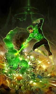 "lucax31:  ""Hal Jordan vs Yellow Corps by Kim Intae  """