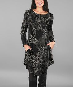Love this Deep Gray Tunic - Plus on #zulily! #zulilyfinds