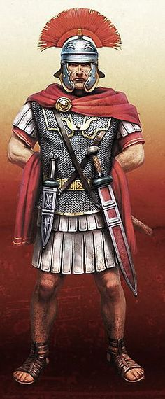Rome and it's Empire- Decline and Fall--- Depiction of a Roman Centurion. Ancient Rome, Ancient Greece, Ancient History, European History, Ancient Aliens, American History, Imperial Legion, Roman Armor, Roman Centurion