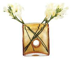 Vaso in vetro ambra Bliss - 15x15x8 cm visto su Dalani.it