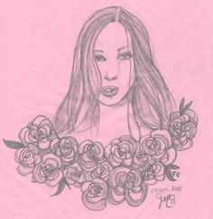 I disegni di Mae sostiene #ottobrerosa .  #illustration #pink #pinklove #roses