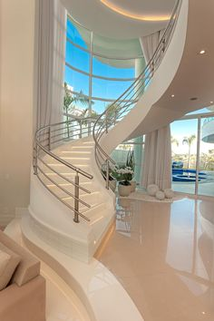Need inspiration? See this beautiful luxury homes and dream big! Need inspiration? See this beautiful luxury homes and dream big! Home Stairs Design, Home Room Design, Dream Home Design, Modern House Design, Dream House Interior, Luxury Homes Dream Houses, Modern Mansion Interior, House Stairs, House Goals