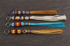 Navajo Beaded Key Chains Native American Beadwork A personal favorite from my Etsy shop https://www.etsy.com/listing/267702033/native-american-native-american-beadwork