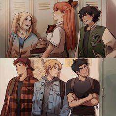 High school Powerpuff girls and Rowdyruff boys Cartoon As Anime, Anime Comics, Cartoon Art, Anime Art, Cartoon Memes, Cartoon Drawings, Time Cartoon, Cartoon Girls, Dc Comics