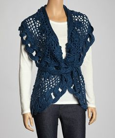Take a look at this Blue Link Knit Wool-Blend Sweater Vest by JohnFashion on #zulily today! $40 !!