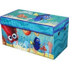 """Disney Pixar Finding Dory Collapsible Toy Chest - Idea Nuova - Toys """"R"""" Us"""