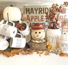 Fall Apartment Decor, Fall Home Decor, Autumn Home, Home Coffee Stations, Holiday Fun, Holiday Decor, Hot Cocoa Bar, Halloween Displays, Tray Decor