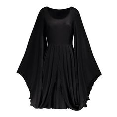 Gothic Wiccan Batwing Sleeve Vintage Dress