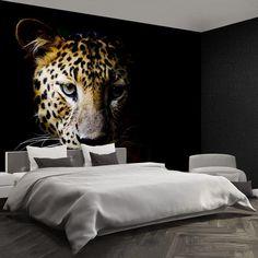 Leopard Cat vlies or self-adhesive wallpaper mural Close up | Etsy