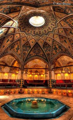 Iranian Bath House - places, travel and &tc lugares, viagens e &tc - Architecture Persian Architecture, Beautiful Architecture, Beautiful Buildings, Art And Architecture, Beautiful Places, Historical Architecture, Magic Places, Iran Travel, Islamic Art