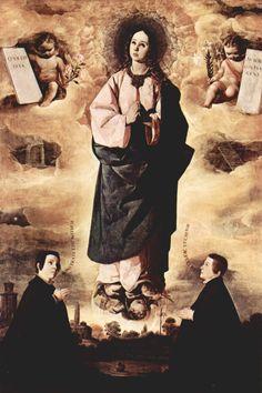 Francisco de Zurbarán, Immaculate Conception, 1632, oil on canvas, 252 x 170 cm., Museo de Arte de Cataluña, Cataluña.