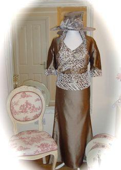 John Charles, 16, Platinum & V/Sheriff Hat, Weddings, Races, Ladies, Formal, MoB, for sale at £399.