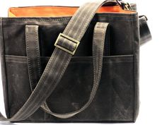 Waxed Canvas City Tote Crossbody Messenger by WhiteCrossDesigns