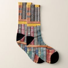 Shop Book Lovers Crew Socks created by StoneRhythms. Book Cover Design, Book Design, Socks World, Best Book Covers, Nerd Gifts, House Gifts, Vintage Christmas Ornaments, Graphic Design Posters, Crew Socks