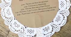 doily wedding program fans, custom vintage-inspired wedding decor and accessories, handmade decor and accessories for life's special moments, Belle… | Pinteres…
