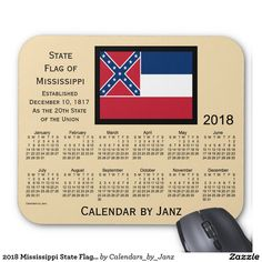 2018 New York State Flag Calendar by Janz Mouse Pad