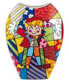 Romero-Britto-Hug-too-suelo-jarron-porcelana-de-Goebel-45-cm-de-alto-la-nuevo Bright Art, Zentangle, Art Lessons, Folk Art, Hug, Ceramics, Quilts, Artwork, Fictional Characters