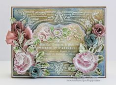 Designs by Marisa: JustRite Papercraft June Release - Rose Bouquet Vintage Labels Seven Clear Stamps