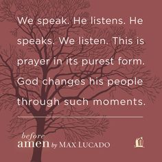 An excerpt from Before Amen by Max Lucado. Click through for more information.