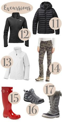 what to wear on an alaskan cruise, jackets, outerwear, boots, cruise attire Packing List For Cruise, Cruise Travel, Cruise Vacation, Disney Cruise, Cruise Tips, Family Cruise, Packing Tips, Dream Vacations, Travel Wear
