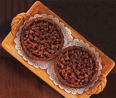Walnut Tartlets Recipe at Epicurious.com  Also yummy.