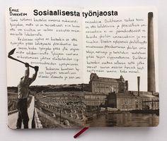 #emiledurkheim #sosiologia #työnjako #kirjat #divisionoflabour #sketchbook #collage #layoutdesign Emile Durkheim, Petra, Layout, Movie Posters, Movies, Design, Page Layout, Films, Film Poster
