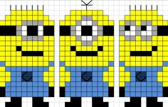 Minions perler bead pattern | DESPICABLE ME | Pinterest | Minions ...