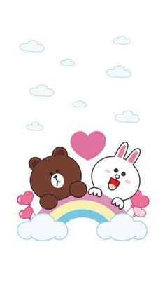ป ก พ น โ ด ย pooki ใ น cartoon line обои для телефона заставка แ ล ะ гифки Lines Wallpaper, Wallpaper Iphone Cute, Cute Wallpapers, Cony Brown, Brown Bear, Line Cony, Bear Clipart, Character Wallpaper, Bare Bears