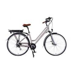 City E-Bike der Marke Cilo - designt und gefertigt in der Schweiz - für jede Schweizer Stadt geeignet - in schickem Silber durch die Stadt flitzen oder bequem radeln. Mit bis zu 25km/h- integriertem Langzeit Lithium Akku, grazil im Rahmen versteckt.  Komfortabler Sattel und gute Einstiegshöhe. E Bikes verbinden Komfort, Design und Fortschritt. Komfort, Bicycle, Design, Veils, Swiss Guard, City, Silver, Bicycle Kick, Bike