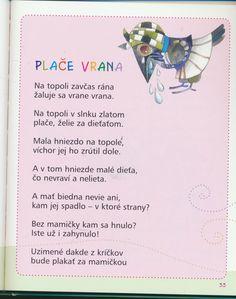 detské básne - Hľadať Googlom Play To Learn, Worksheets, Preschool, Education, Learning, Youtube, Art, Preschools, Kid Garden