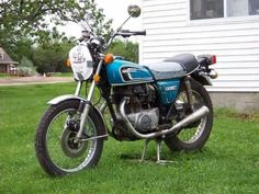 My actual first bike, 1975 Honda CB360T....this pic taken years later when I randomly saw it on the side of the road, about an hour from where I used to ride it. But I'm 98% positive it was the same bike.