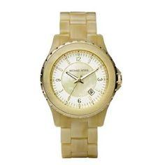 Michael Kors Quartz Mother of Pearl Dial Horn Band - Women's Watch MK5299 $121.60