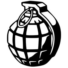 Grenade Die Cut Vinyl Decal PV724 for Windows, Vehicle Windows, Vehicle Body Surfaces or just about any surface that is smooth and clean!