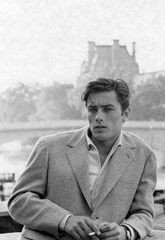 Alain Delon, 1960's Os homens começam a usar o cabelo mais comprido