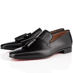 Christian Louboutin Daddy Men Flat Leather Sneakers Black