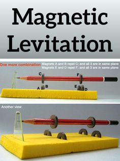 What a cool science experiment for kids! Make your own magnetic levitation. – Tomas Castro Juarez What a cool science experiment for kids! Make your own magnetic levitation. What a cool science experiment for kids! Make your own magnetic levitation. Physics Projects, Science Projects For Kids, Middle School Science, Elementary Science, Science Classroom, Science Lessons, Teaching Science, Science Education, Science For Kids