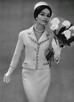 Tailleur da cerimonia di Pierre Balmain 1959