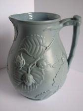Antique 19th Century English Relief Molded Salt Glaze Jug. C1870