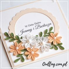 quilling, husking, greeting card, birthday, handmade, paperart, craft, wedding, quilling.com.pl