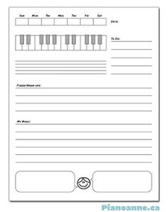 Music homework sheets