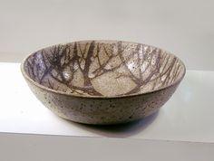 Weston Neil Andersen, Brown Tree Pattern, Stoneware Round Bowl