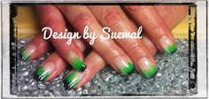 green/black Nails, Green, Beauty, Black, Design, Finger Nails, Beleza, Ongles, Black People