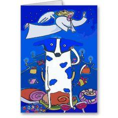 Blue Dot Dog Happy Holidays Card #Christmas #NewJersey