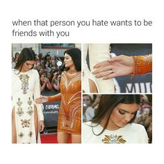 When that person you hate wants to be friends with you | Follow @kykenoutfit for more.