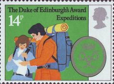 25th Anniversary of Duke of Edinburgh's Award Scheme 14p Stamp (1981) 'Expeditions'