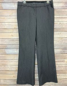 VintageRetro Women/'s Gray Professional Pants Size 10P