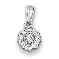 Sterling Silver 0.13ct Diamond Round Pendant
