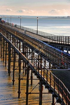 Southend on Sea Pier Essex England colour photograph picture print by AE Photo