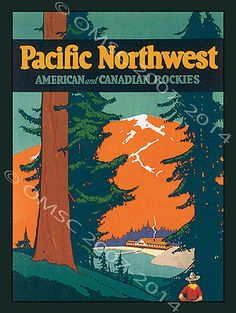 Pacific-Northwest-Metal-Sign-American-and-Canadian-Rocky-Mountains-Retro-Decor