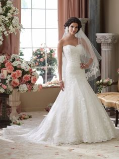 Sparkle Sweetheart Trumpet Mermaid Chapel Train Satin Delicate Appliqued Bodice Sequin Wedding Dress Adt0011